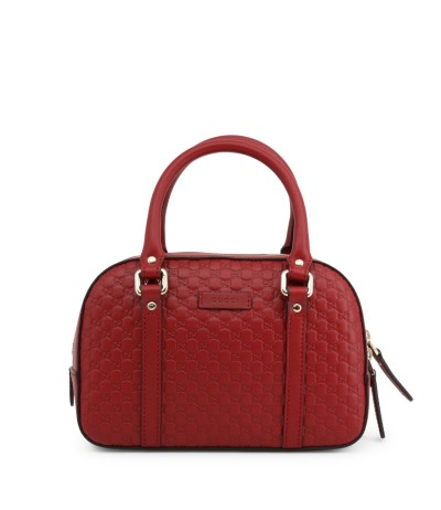 Gucci Red Ssima Leather Top Handle  Bag