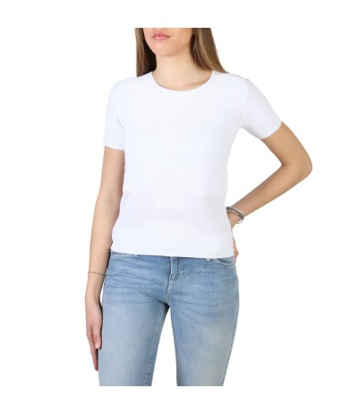 Armani Jeans White t-shirt with round neckline and short slevees