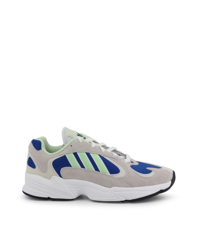 Adidas Mens Yung-1 Cloud White/glow Green/collegiate Royal Sneakers