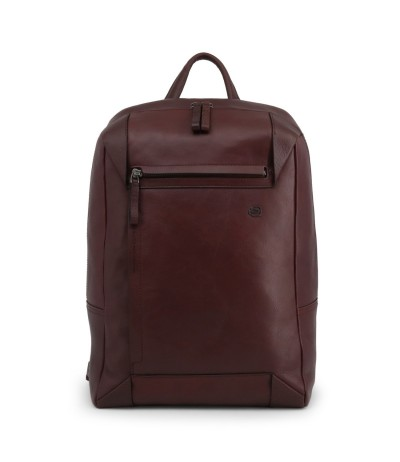 Piquadro Front Logo Patch Zipped Backpack
