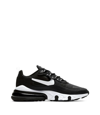 Nike Black and white 'Air Max 270 React' lace-up sneakers