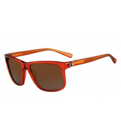Calvin Klein Unisex Orange Square Sunglasses