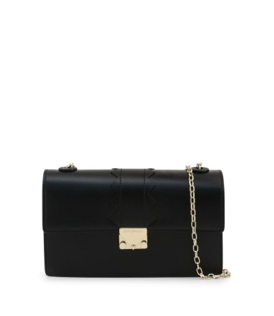 Emporio Armani  Logo Stamp Clutch Bag - Black