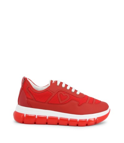 Love Moschino Flat Low Top Sneakers - Red