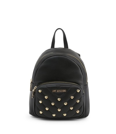 Love Moschino Heart-studded Embellished Backpack - Black