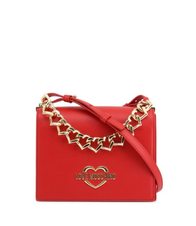 Love Moschino Women's bag wih a metal belt decorated hearts