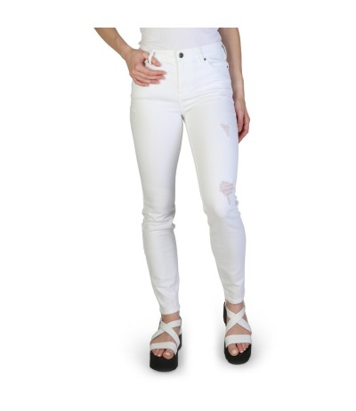 Armani Exchange Distressed Skinny Jean - White
