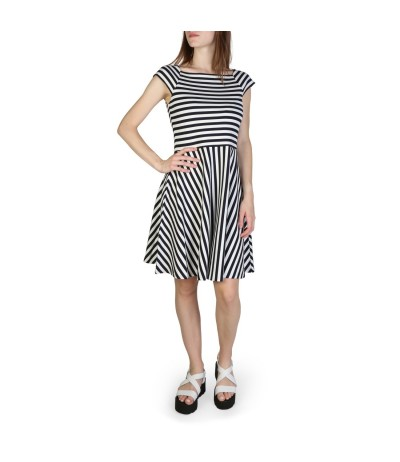 Armani Exchange Striped Ponte Dress - Blue