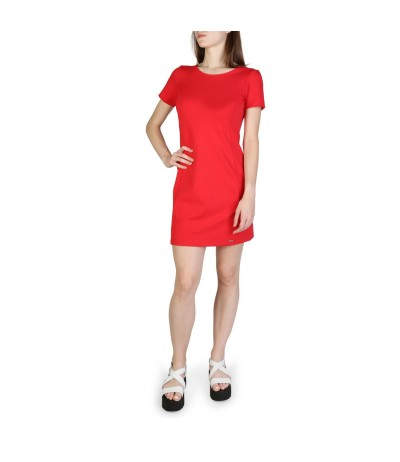 Armani Exchange short sleeve dress and neckline on the back
