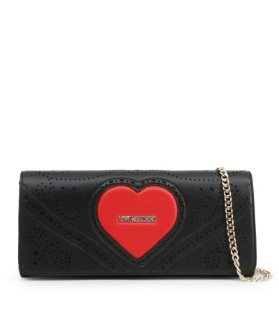 Love Moschino Women's Clutch with bright heart on the  front