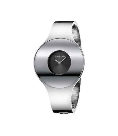 Calvin Klein Seamless Silver Dial Medium Bangle Ladies Watch - Metallic