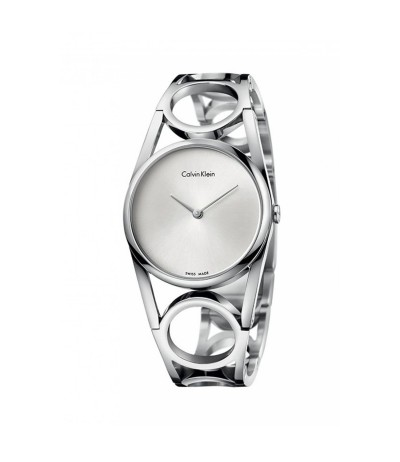 Calvin Klein Round Silver Dial Ladies Watch