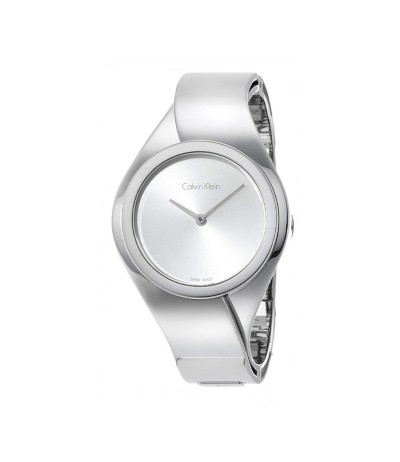 Calvin Klein Senses  Dial Ladies Small Bangle Watch - Metallic