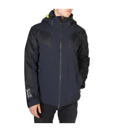 EA7  two-way zip closure multicolour jacket