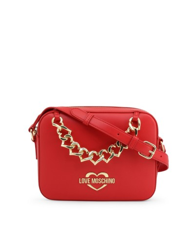 Love Moschino Mini Chain Faux Leather Shoulder Bag