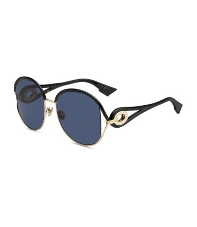 Dior  New Volute Blue Mirror Shaded Gold  Sunglasses