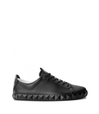 Emporio Armani Lace-up Low Top Sneakers - Black