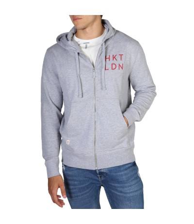 Hackett Logo-embroidered Zip-up Sweater