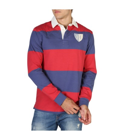 Hackett Slim Fit Long Sleeve Polo Shirt - Multicolor