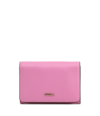Furla Pale pink leather compact wallet