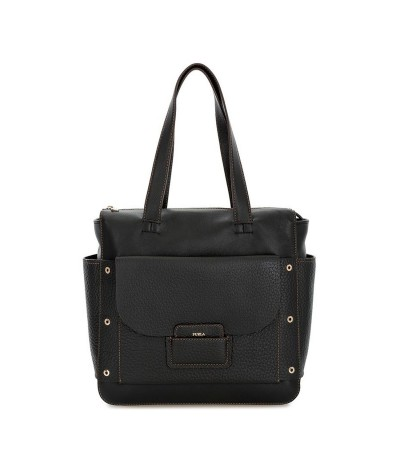 Furla Set Logo Cross-body Bag - Black