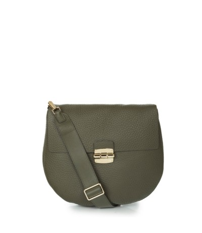 Furla textured leather  bag with Arco print