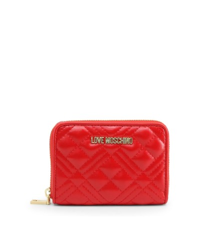 Love Moschino Quilted Coin Purse in red