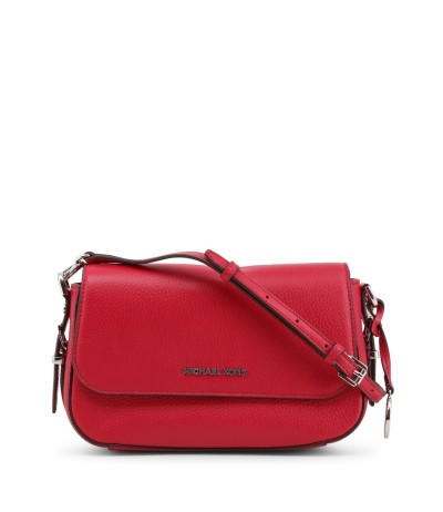 Michael Kors Large Bright Red Leather Clutch