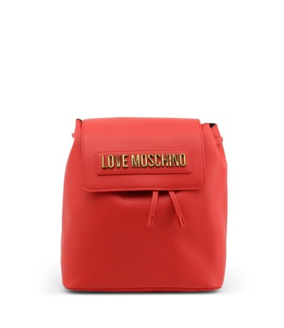 Love Moschino foldover top backpack with magnetic fastening