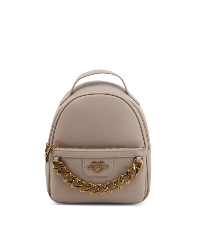 Love Moschino  Synthetic Leather Chain Hearts Backpack