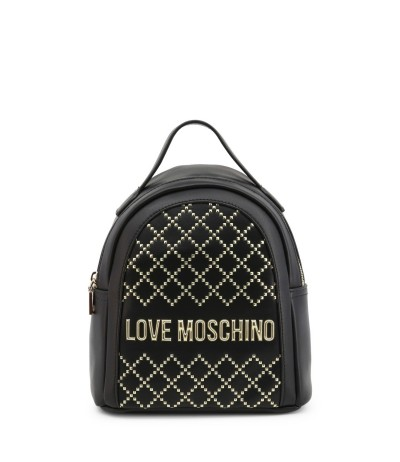 Love Moschino Studded Logo Backpack - Black