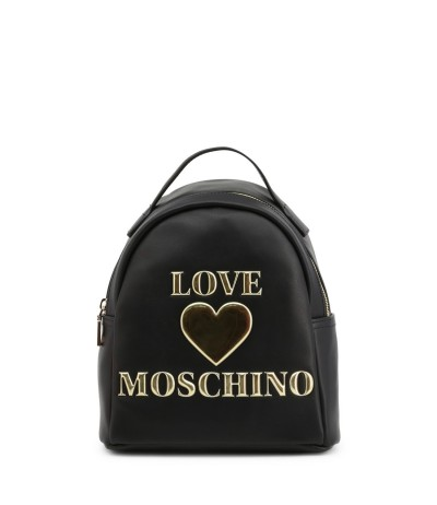 Love Moschino backpack with logo and laminated heart