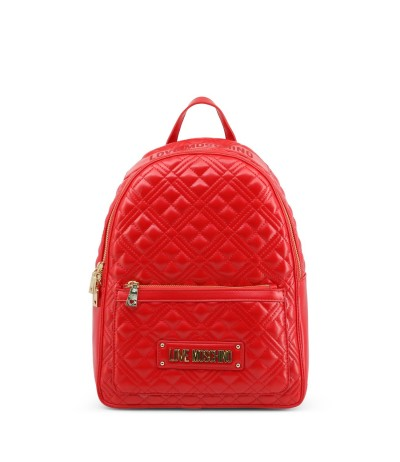 Love Moschino Logo Plaque-embellished Backpack - Red