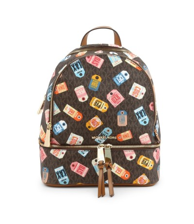 Michael Kors Slater  Printed Logo Backpack - Brown