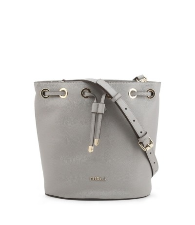 Furla  Drawstring Leather Shoulder Bag