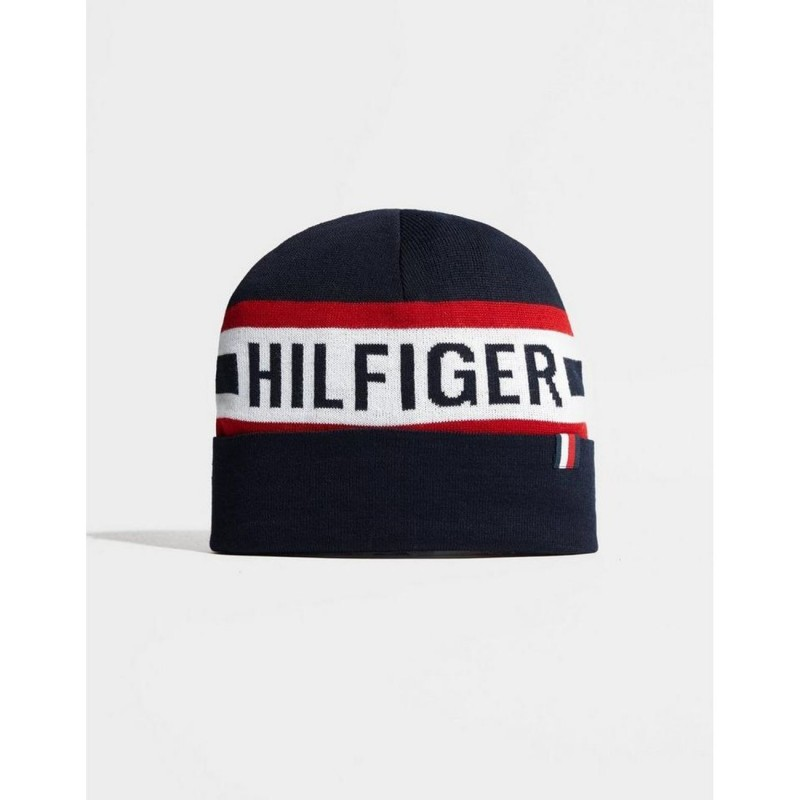 TOMMY HILFIGER Knitted Beanie - Blue