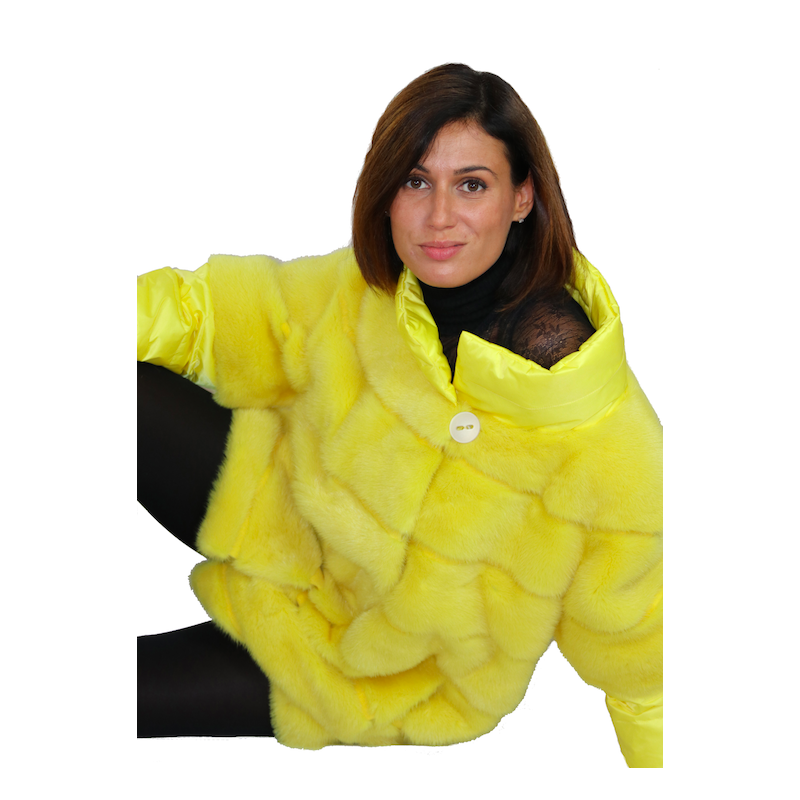 Fur and Down Jacket by Shelly Furs