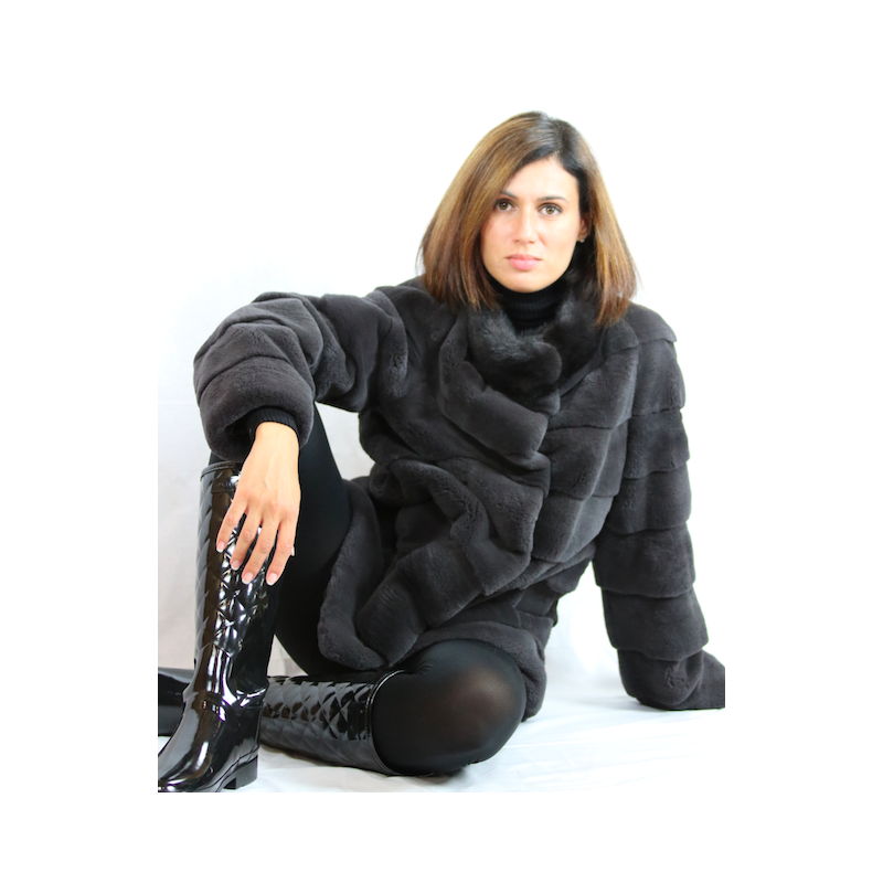 Layered Fur Jacket by Shelly Furs
