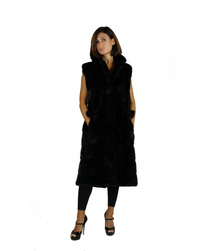 Long Mink Vest by Shelly Furs