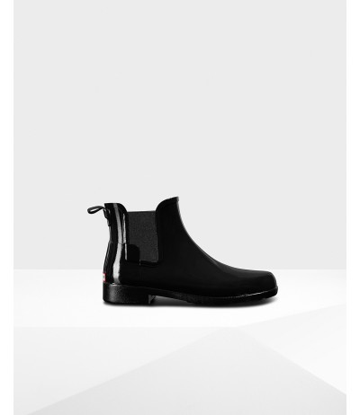 Hunter Original Refined Gloss Short Chelsea Boot