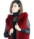 Rex Rabbit Reversible Vest by Shelly Furs