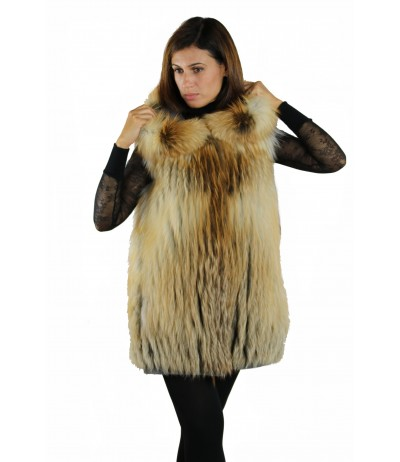 Red Fox Reversible Vest by Shelly Furs