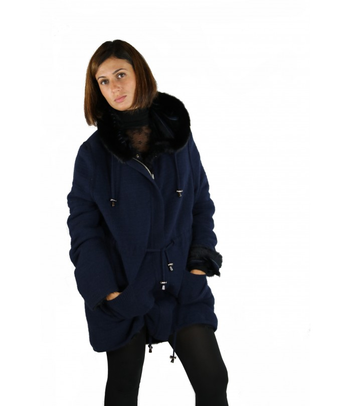 Mink and Wool Reversible Coat by Shelly Furs