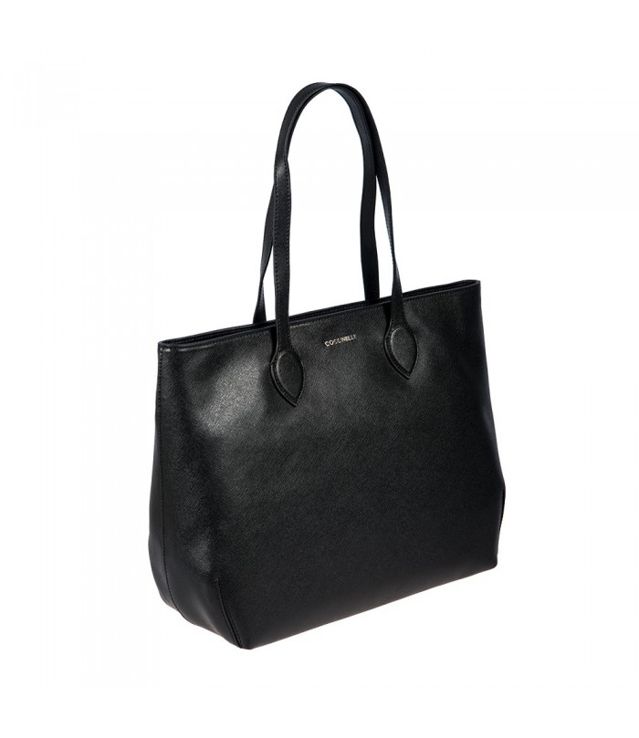 Coccinelle Leather Shopping Tote Bag