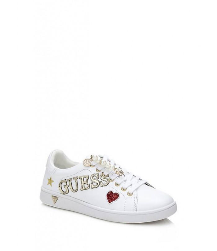 GUESS SUPER LEATHER SNEAKER APPLIQUÉS