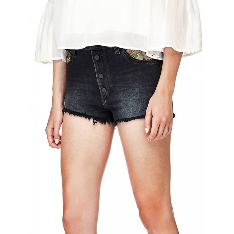 GUESS DENIM SHORTS WITH EMBROIDERY