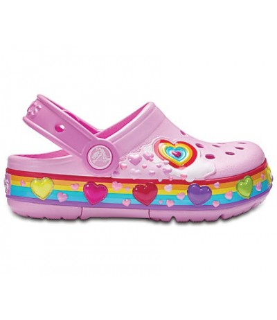 Crocs Kids' Crocband Fun Lab Graphic Lights Clogs