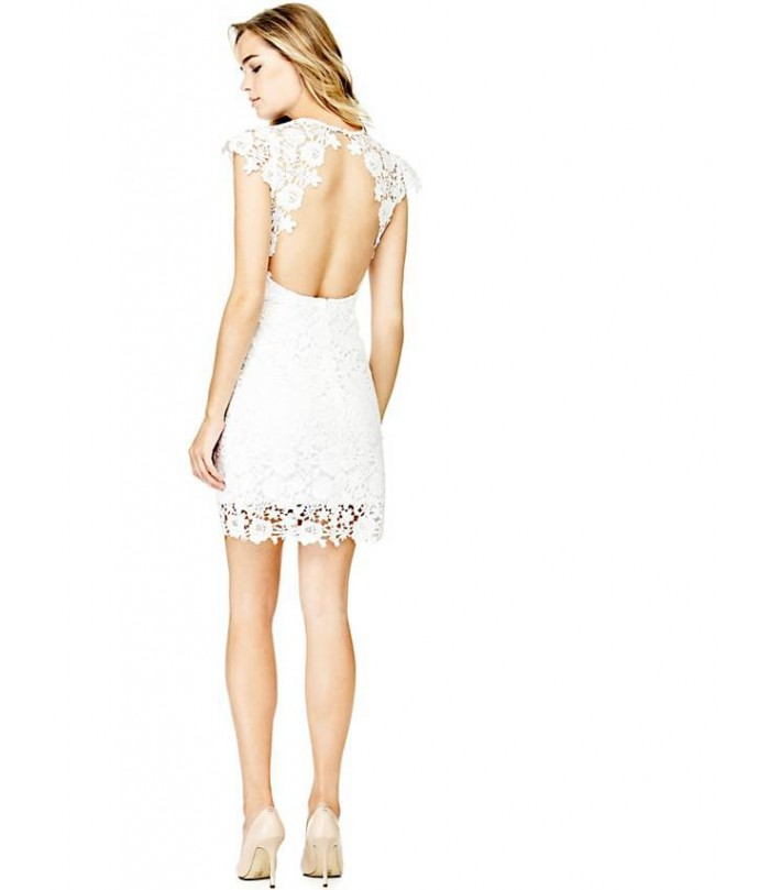 GUESS LACE DRESS WITH BACK OPENING