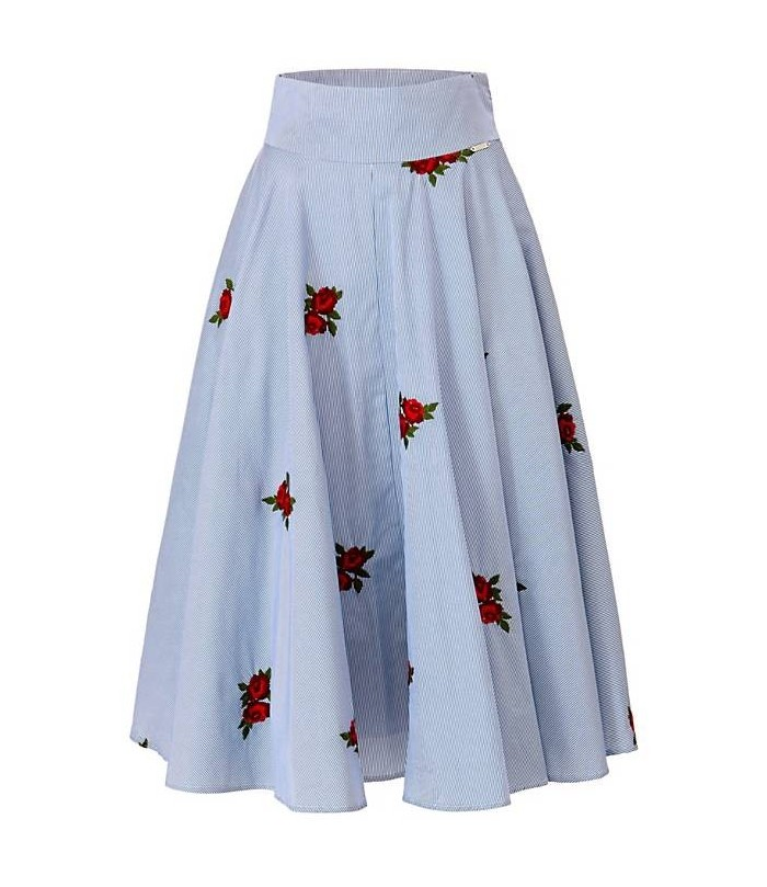 SKIRT WITH ROSE EMBROIDERY GUESS