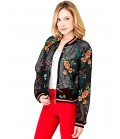 GUESS BOMBER WITH FLORAL EMBROIDERY